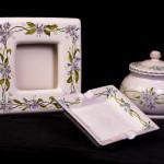 Set miosotis - maiolica - cm. 20x20 - 15x15
