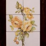 Rose gialle - maiolica - cm. 20x60