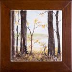 Tronchi spogli - maiolica - cm. 15x15