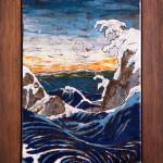 La forza del mare - cuerda seca -cm. 22x34
