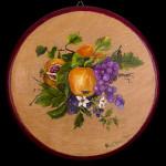 Frutta - acrilico su legno - diam. cm. 26