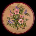 Rose di macchia - acrilico su legno - diam. cm. 26