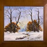 Sotto la neve - acrilico su legno - cm. 28x30