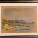 Spiagge di Sardegna 01- gessetti su cartoncino - cm.38x48