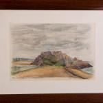 Spiaggia di Bretagna - gessetti su cartoncino - cm.21x30