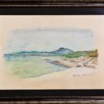 Spiagge di Sardegna 02- gessetti su cartoncino - cm.42x26