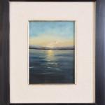 Sereno tramonto - olio su tela- cm. 15x20