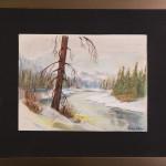 Il pino morto - gessetti su cartoncino - cm. 21x28