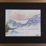 Cime nevose - gessetti su cartoncino - cm. 21x28