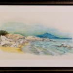 Spiagge di Sardegna 03- gessetti su cartoncino - cm.42x26