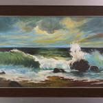Il mare tempestoso - olio su tela - cm.40x80