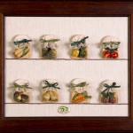Quadro dei frutti di bosco - pasta sale - cm. 29x35